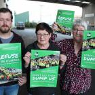 Save Southland disAbility Enterprises campaigners (from left) Tony Stewart, Lynda Mooij and Rae...
