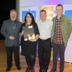 Arts Access Aotearoa executive director Richard Benge (left) at Te Papa last night with Dunedin...