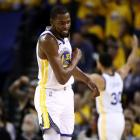 Kevin Durant is reportedly not close to returning for the Golden State Warriors. Photo: Getty Images