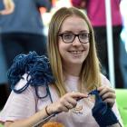 University of Otago student Grace Dent helped to organise a knitting circle at a mental health...