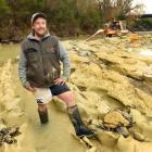 Michael Johnston was quite relaxed after fossilised moa footprints he discovered in the Kyeburn...