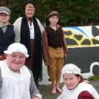 Kaitangata School members in this weekend's Blood on the Coal commemorative mining disaster play...