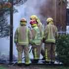 Fire crews responded quickly to a fire in a sleepout in Queenstown yesterday, but it could not be...