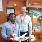 New Zealand Airline Academy director Jonathan Manuel (left) and Waitaki Mayor Gary Kircher at the...