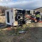 A man ejected from a campervan in a single-vehicle crash had to be freed from under the vehicle...
