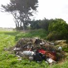Household rubbish and green waste dumped illegally at the Beach Rd reserve near Kakanui. PHOTO:...