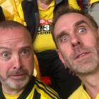 Rob Burnell (left) with Laurence Campbell at the FA Cup final at Wembley stadium in London...