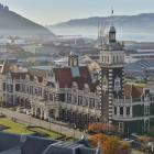 The Dunedin Railway Station is bathed by autumnal sun. PHOTO: GERARD O'BRIEN