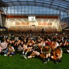 A crowd of around 18,000 gathered at Forsyth Barr Stadium in Dunedin last night. Photos: Gerard O...