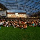 The vigil at Dunedin's Forsyth Barr Stadium in March was a moving experience. PHOTO: GERARD O'BRIEN