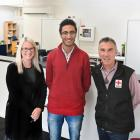 Dunedin Red Cross office administrator Angela Cayford, youth co-ordinator Sakhr Munassar and...