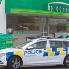 Police at Lynmore BP on December 10 last year after the aggravated robbery. Photo: NZME.