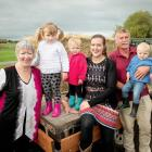 Judy and Murray Collins with their daughter Jenny Broomhall and grandchildren Elsie Broomhall, 3,...