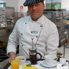 Mercy Hospital head chef-food service team leader Uwe Braun has prepared a typical omelette...