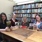 Founding members of the Dunedin Speculative Fiction Writer's Group, (from left) Daniel Stride,...
