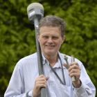 Dr Chris Pearson, of the University of Otago, holds a mount point for a GPS antenna for...