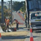 Contractors work in Brighton Rd in Westwood to finish nine months' work on a blocked sewerage...