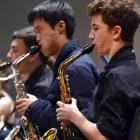 The Dunedin Youth Jazz Orchestra from left Ollie Meikle (18) Kevin Chen (18) and Sam Meikle (16)...