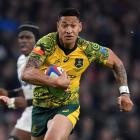 Israel Folau in action for the Wallabies against England. Photo: Reuters