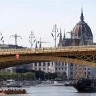 A search operation under way near the Margaret bridge on the Danube River in Budapest. Photo:...