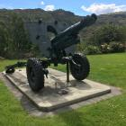 Clyde's wartime field gun sits on display next to the town's cenotaph. PHOTO: ALEXIA JOHNSTON