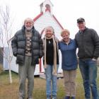 Oturehua residents (from left) poet Brian Turner, writer Jillian Sullivan, film director...