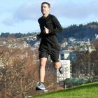 Aidan Barbour-Ryan will reach his goal of running every day for a year today. Photo: Stephen...