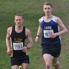 Tim Bolter (left) and Hamish McKinlay set off in the Barnes Cross-country senior men's race, held...