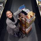 Star Regent 24 Hour Book Sale co-ordinator Alison Cunningham sets up for tomorrow's sale. Photo:...