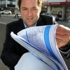 Clutha-Southland MP Hamish Walker will deliver his 24/7 Balclutha policing petition to Parliament...