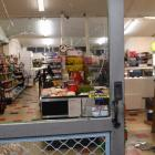 The window of Brockville Four Square Supermarket was left smashed. Photo: Stephen Jaquiery