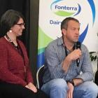 Curio Bay equity partners Lynsey and Chris Stratford address a workshop at the South Island Dairy...