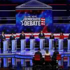Candidates participate in the first US 2020 presidential election Democratic candidates debate in...