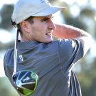 Otago Golf Club No4 Duncan Croudis watches his drive on the sixth hole at Taieri Lakes on...