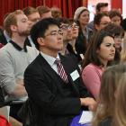 Participants listen to a talk by Prof Mark Rosenzweig at the University of Otago's latest Foreign...