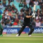 Ross Taylor gets a shot away on his way to 82 against Bangladesh. Photo: Getty