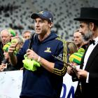 Ben Smith bid farewell to fans at Forsyth Barr Stadium on Friday. He still has a chance to play...
