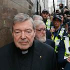 George Pell arriving at Melbourne Magistrates Court last year. Photo: Getty Images