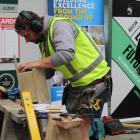 Jacob Esveld, of Gore, works on his bird house at the Invercargill venue for the southern...