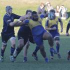 Valley prop Meli Kolinisau is on the run against the Excelsior defence in Oamaru on Saturday....