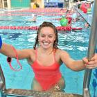 Neptune's Jessica Scott (16) gets ready for a swim at Moana Pool ahead of the national open...