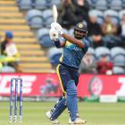 Kusal Perera bats for Sri Lanka during their sketchy win over Afghanistan. Photo: Getty Images