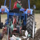 Scott McKenzie in action ploughing during a recent ploughing match on the Taieri. Photo: Gerard O...