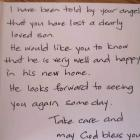 The hand-written cards have been sent to residents in West Auckland, the North Shore, South...