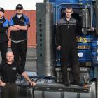 On the road to automotive careers are (from left) Otago Polytechnic pre-trades students Matt Fisk...