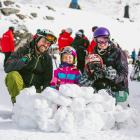 Enjoying opening day at The Remarkables on Saturday are Invercargill family (from left) Nic, Jean...