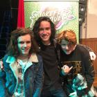 The Trainsurfers (from left) Ollie McLean, Dillon Bochier and Cameron Kennedy-Grant.PHOTO:...