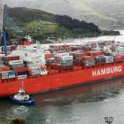 A Rio-class ship at Port Chalmers last year. PHOTO: ODT FILES