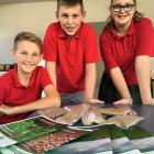 Mid Canterbury's AgriKidsNZ Aorangi regional winners Charlie Scammell, Hamish Paton and Isla...