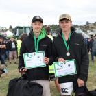 Geraldine High School's Jacob Price (left) and Patrick Foley-Smith won the Aorangi final from...